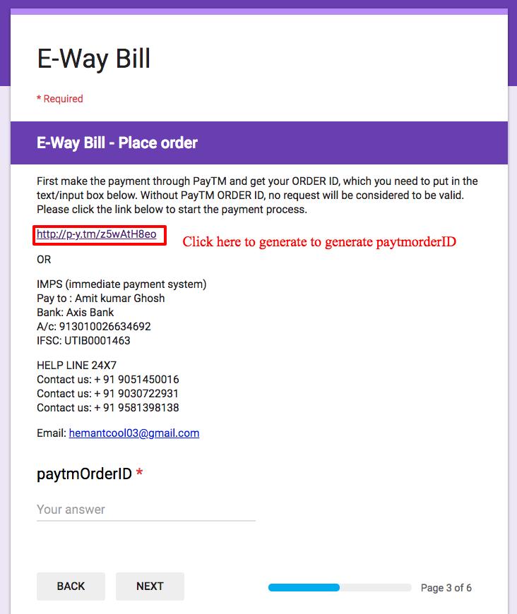 e way bill login