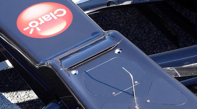 """L'S Duct della Sauber C31 2012 nella zona dello """"scalino"""" anteriore"""