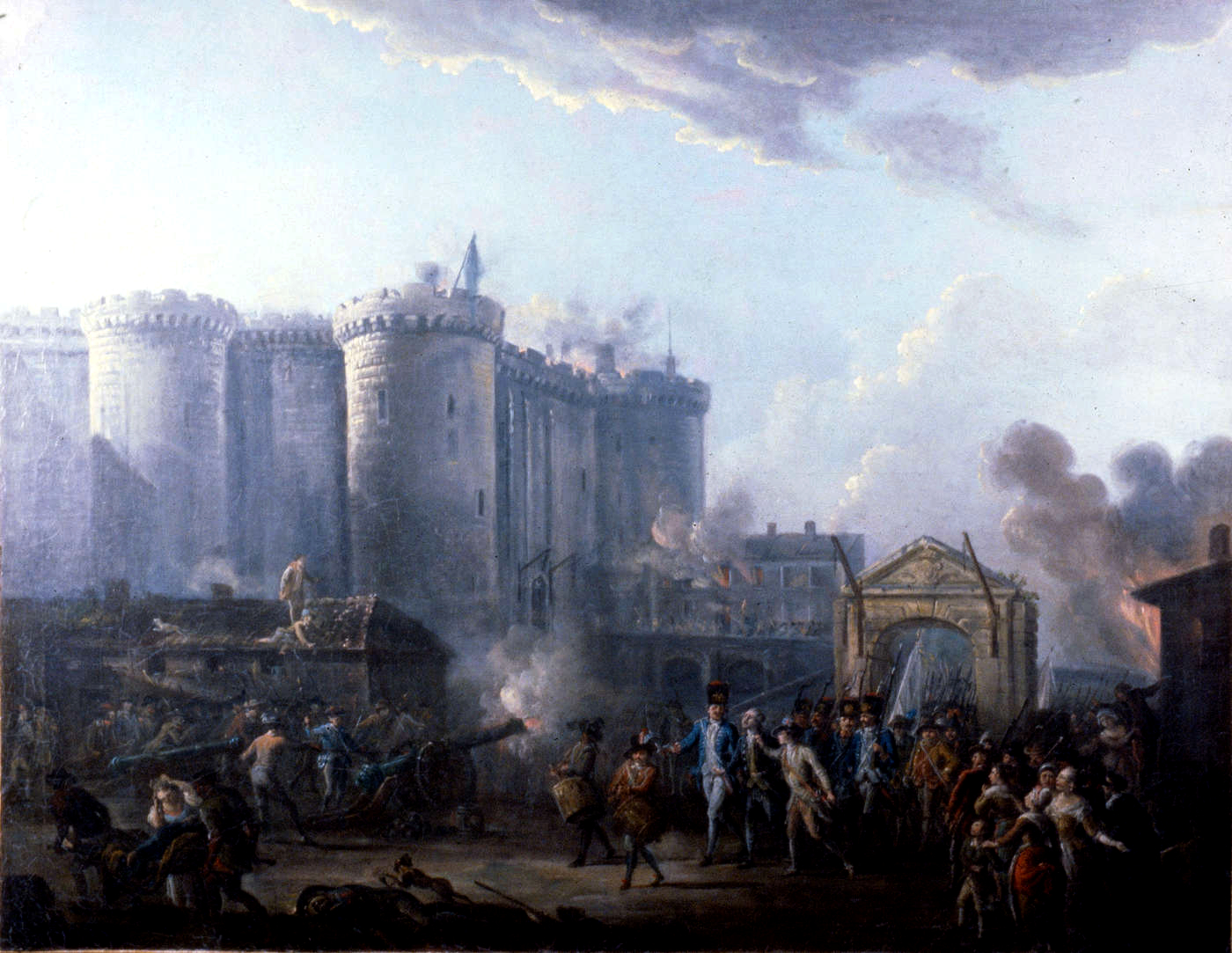This is an image of Bright Storming Of The Bastille Drawing