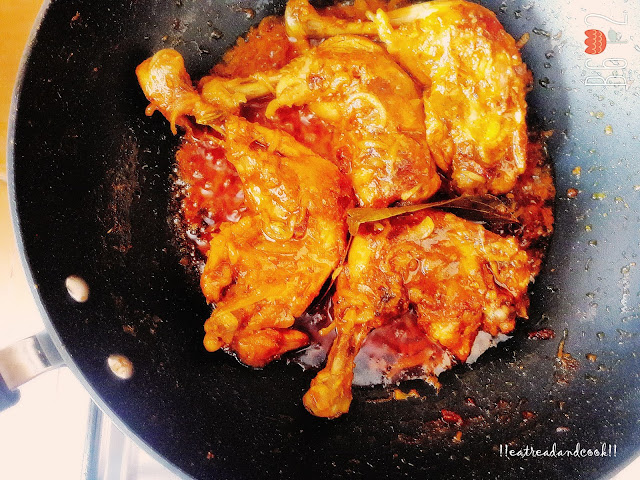 how to make Murgir Roast / Bengali Chicken Roast recipe and preparation with step by step pictures