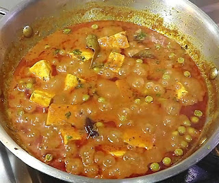 How to make matar paneer step by step