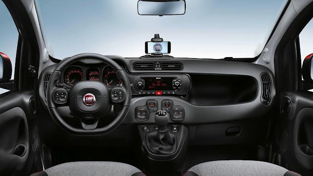 Interior del Fiat Panda 2017