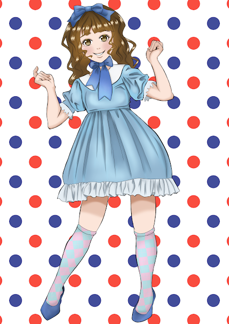 Girl in a dress (free anime images)