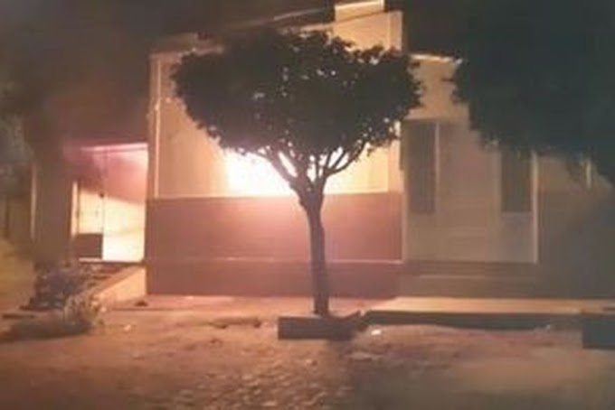 Vídeo: Homem é preso suspeito de incendiar a casa dos pais, no alto sertão da PB