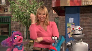 celebrity, Kim Cattrall, Abby Cadabby, the Word on the Street Fabulous, Sesame Street Episode 4416 Baby Bear's New Sitter season 44