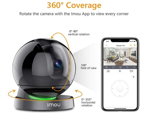 IMOU 360 Degree View Smart Camera with Night Vision