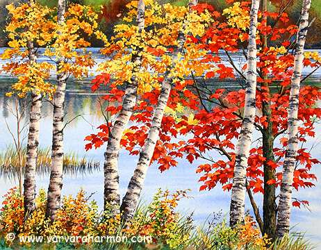 Fall Leaves Watercolor Wallpaper Art Wednesday Varvara Harmon