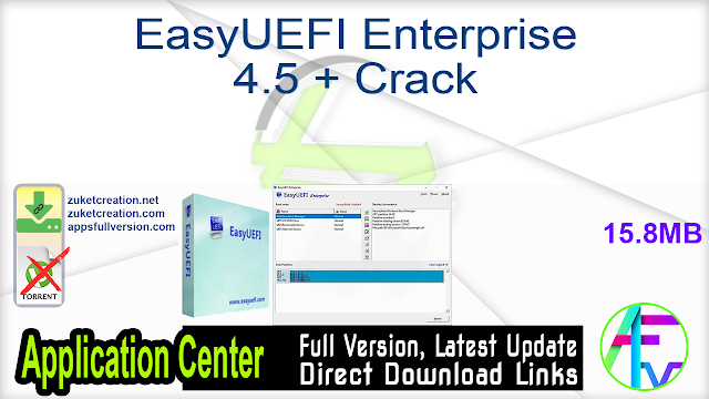 EasyUEFI Enterprise 4.5 + Crack