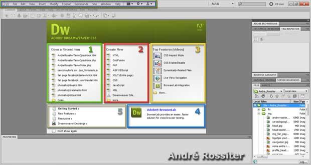 Introdução Adobe Dreamweaver