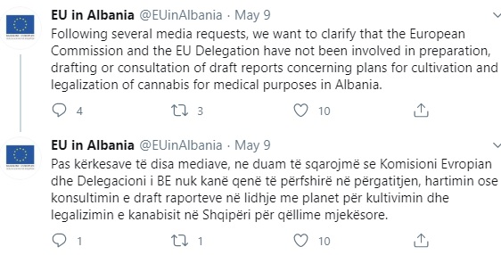 Use of medical Cannabis in Albania?! EU says is not discussing legalization