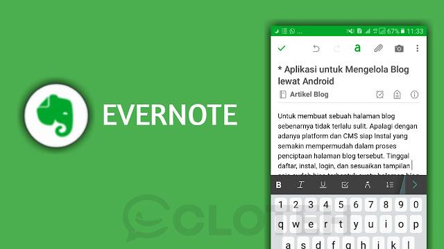 Aplikasi Mengetik Artikel terbaik di android
