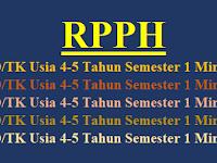 RPPH PAUD/TK Usia 4-5 Tahun Semester 1 Minggu 1-8
