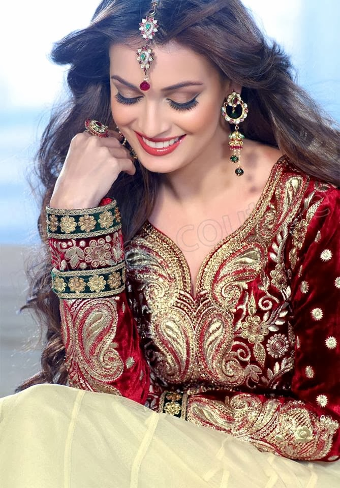 latest indian frock designs sizzling diya mirza suits