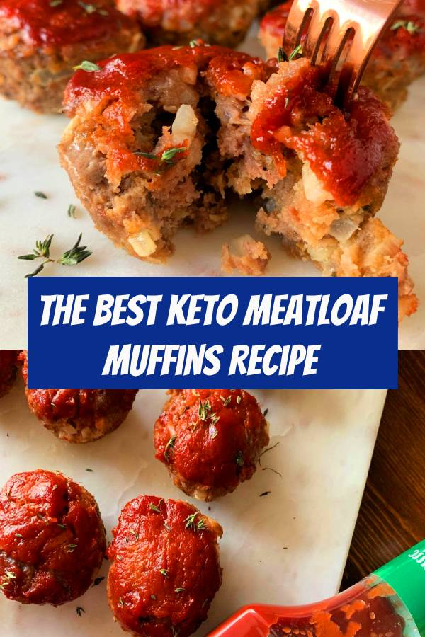 The Best Keto Meatloaf Minis with Low Carb Ketchup. These Keto Meatloaf Muffins are basically perfectly portioned low carb meatloafs, ideal for Keto meal prep lunches. #keto #meatloaf #muffins