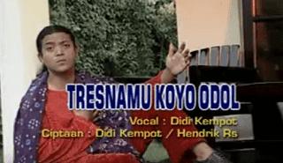 Lirik Lagu Tresnamu Koyo Odol - Didi Kempot