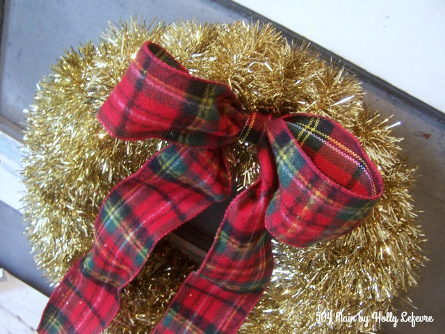 Sparkle and plaid make for fun holiday decor