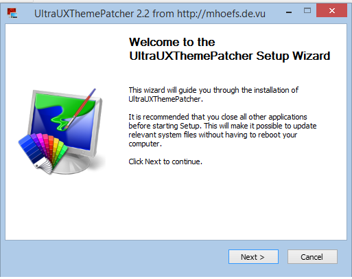 UltraUXThemePatcher to apply themes for Windows 8