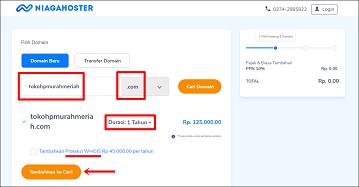 Membeli dan Memasang Custom Domain di Niagahoster