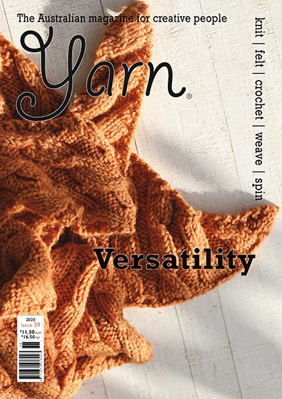 Yarn Magazine, September of 2020, an interview with me...