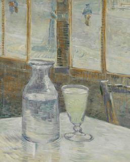 Mesa de Café com Absinto de Vincent van Gogh, 1887.