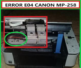 Cara Memperbaiki Error E04 Canon MP287/MP285