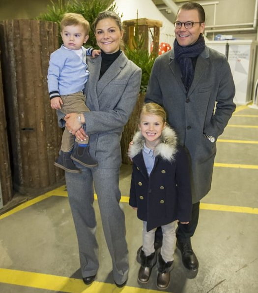 Prince Daniel, Princess Estelle and Prince Oscar. Crown Princess Victoria wore suit from Erdem x H&M collection