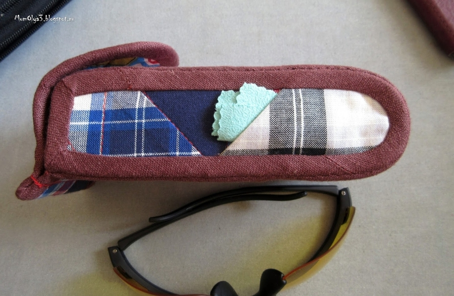 How to sew an easy glasses case. Tutorial