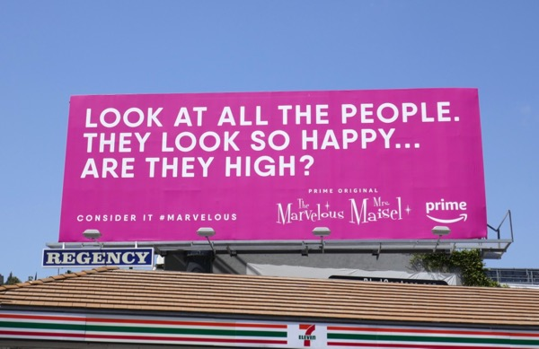 people happy high Marvelous Mrs Maisel Emmy FYC billboard