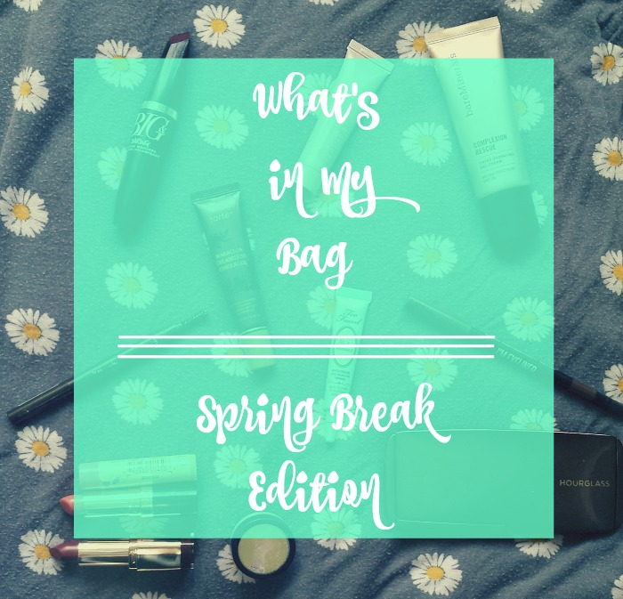 spring break makeup bag essentials, march blogger bootcamp day 14 makeupwithaheart