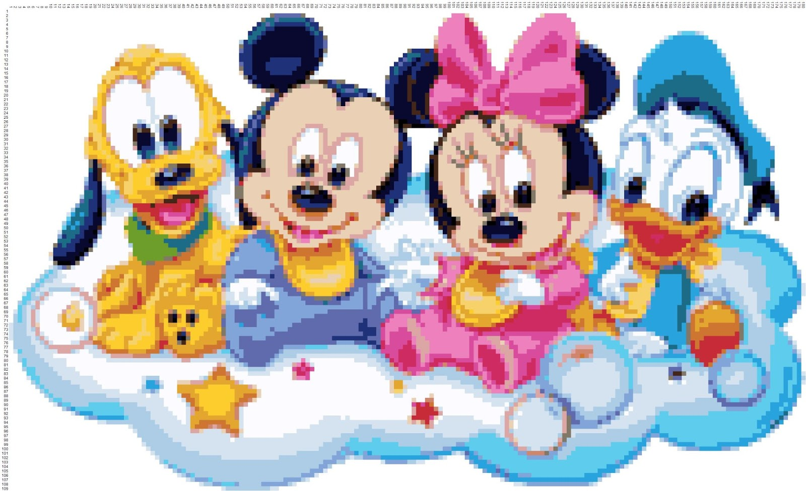 N 11 Disney Babies Disegni In Crocette