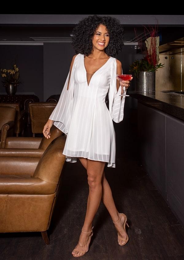 vestido de festa branco curto reveillon