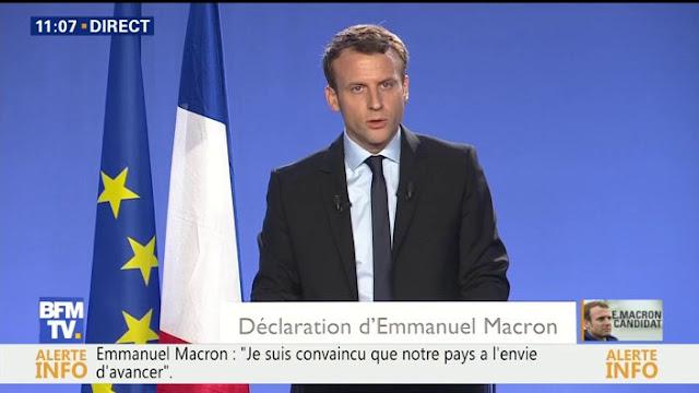 Macron Candidat à la présidence de la République