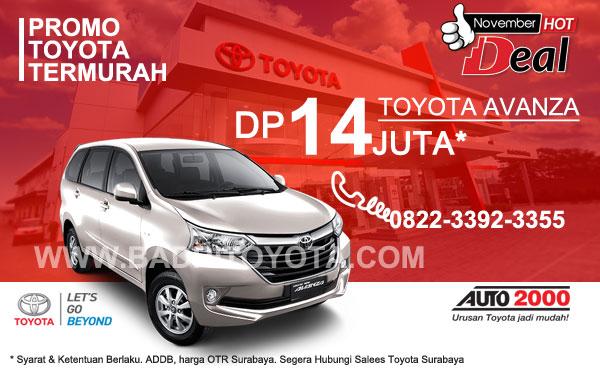 Paket Keren Avanza DP 14 Juta, Promo Toyota Surabaya