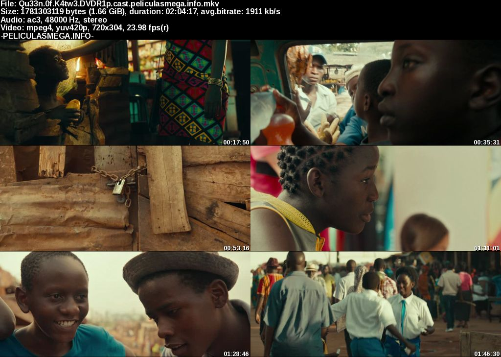 Descargar Queen of Katwe Castellano por MEGA.