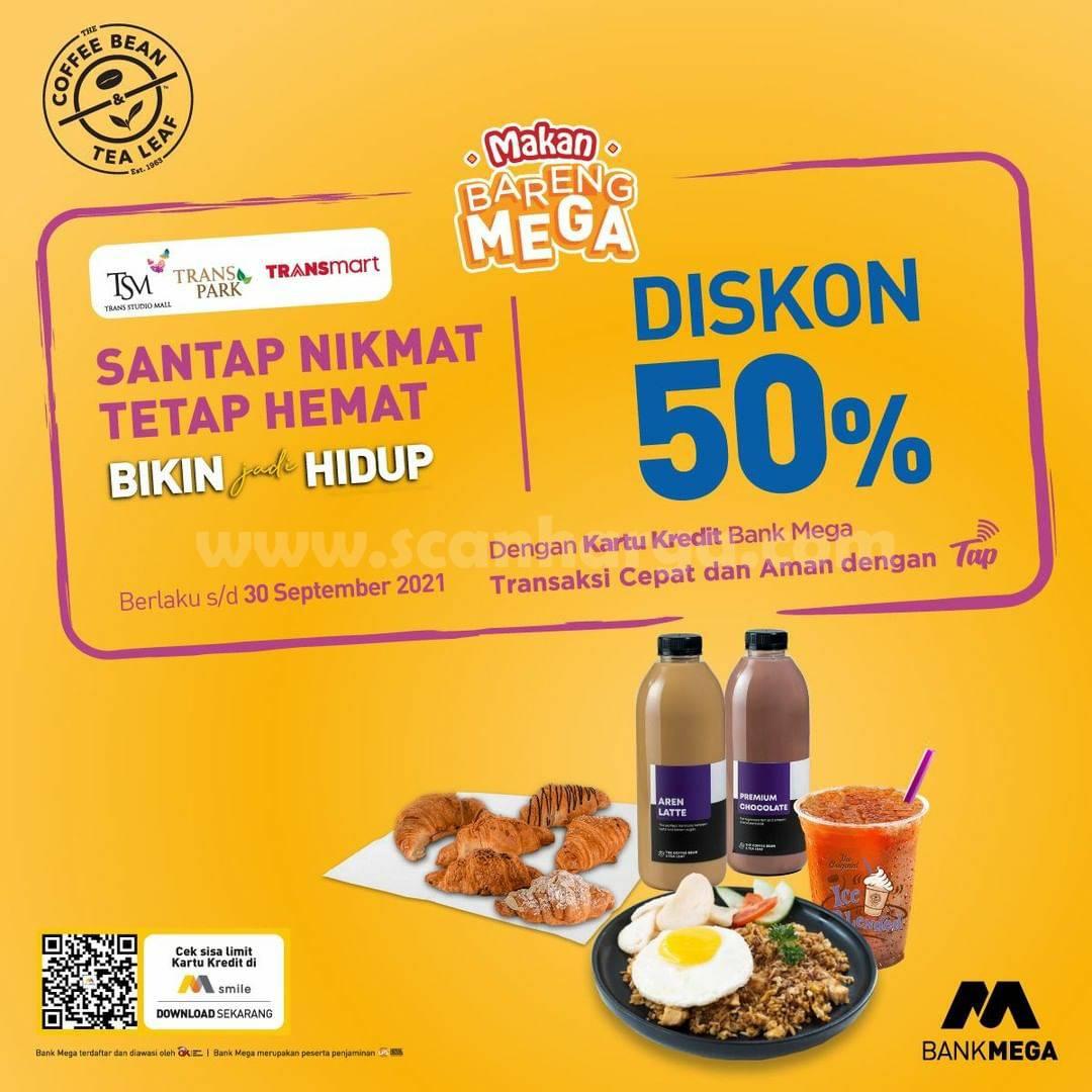 Coffee Bean Promo Diskon 50% dengan Kartu Kredit Bank Mega
