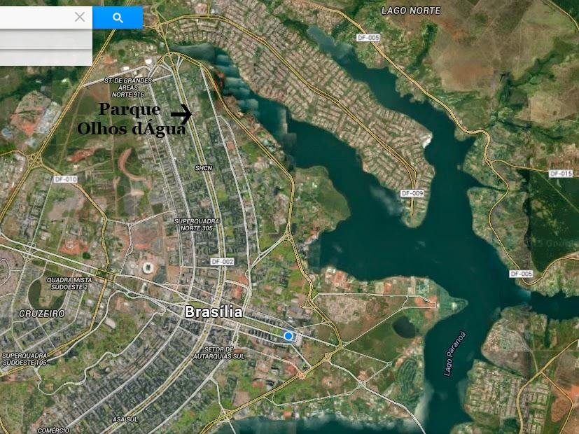 Mapa do Parque Olhos Dágua