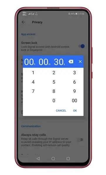 هذا هو! انتهيت. هذه هي طريقة عمل ميزة قفل الشاشة على تطبيق Signal.