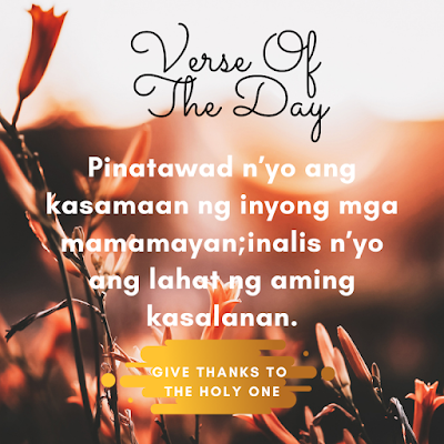 Bible Verse Of The Day Tagalog  September 28 2020  Give Thanks To The Holy One Photo