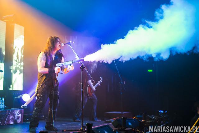 Kreator Mille petrozza guitarist playing in progresja, warsaw, poland