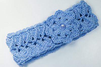 7 - Crochet IMAGEN Cinta para la cabeza rosa a crochet muy fácil y sencillo. MAJOVEL CROCHET