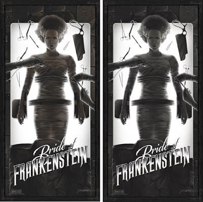 Bride of Frankenstein Screen Print by Juan Ramos x Bottleneck Gallery x Vice Press