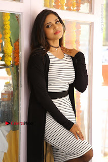Telugu Actress Karunya Chowdary Stills in Black Dress at Soda Goli Soda Movie Opening  0310.JPG