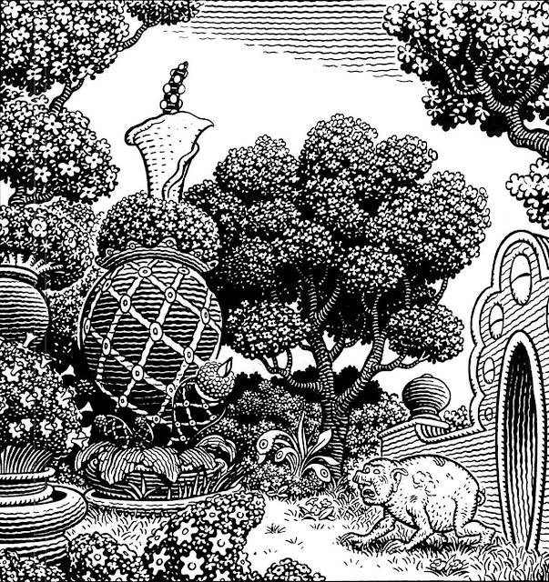 Jim Woodring walking pigman art