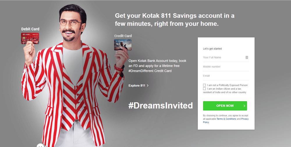 Get Your FREE Kotak 811 Virtual Debit Card Free Account Opening
