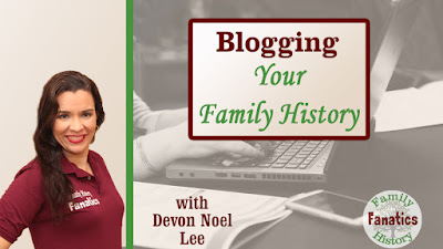 Genealogy Blogging Webinar Thumbnail