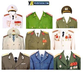Mẩu áo quân phục ghép ảnh photoshop 03