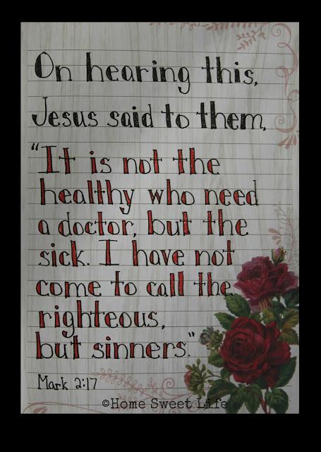 Mark 2:17, Scripture Writing