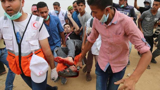 Militares israelíes dejan 170 palestinos heridos en Franja de Gaza