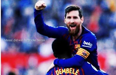 Messi did win hattricke barsa