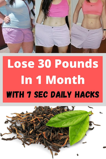 Lose 30 Pounds in 1 Month with 7 sec Daily Hacks